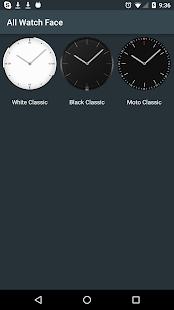 Moto Classic Watch Face