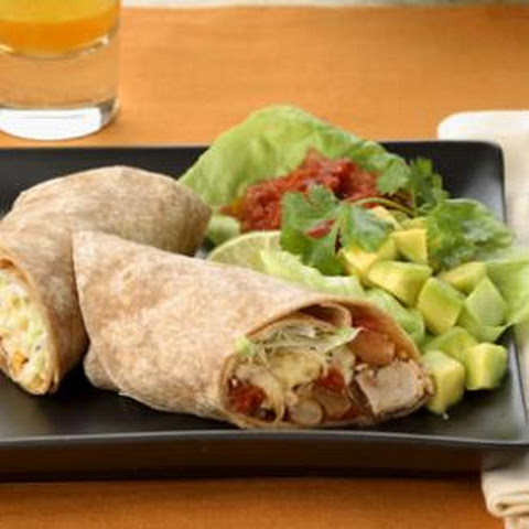 Shredded Turkey & Pinto Bean Burritos