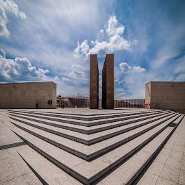 Bologna | Shoah Monument by Sabrina Campagna - City,  Street & Park  Vistas ( nikon, shoah, 14mm, bologna, vertorama, monument, d810, italy, architecture )