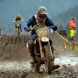 Motocross 14 by Marco Bertamé - Sports & Fitness Motorsports ( turn, slowdown, bike, mud, rainy, motocross, competition )