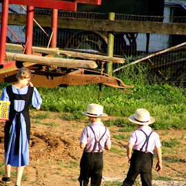 Amish Siblings by Rita Goebert - Babies & Children Children Candids ( amish life; children; boys; girl; pennsylvania; beacon hill rv park )