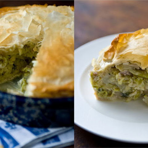 Greek Cabbage Pie with Dill and Feta