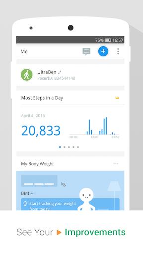 Pedometer, Step Counter & Weight Loss Tracker App screenshot 3