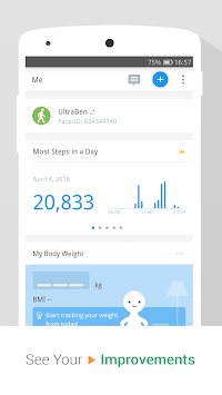 Pedometer & Weight Loss Coach APK screenshot thumbnail 3