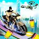 Superhero Moto Stunt Tricks Alien Bike Attack