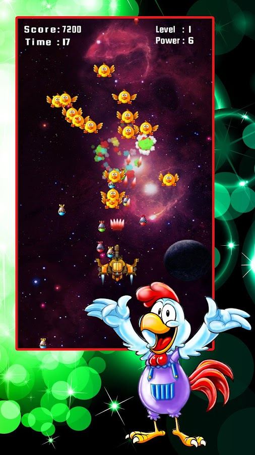 Chicken Shooter: Space Defense Screenshot 1