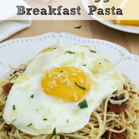 Ham and Egg Breakfast Pasta