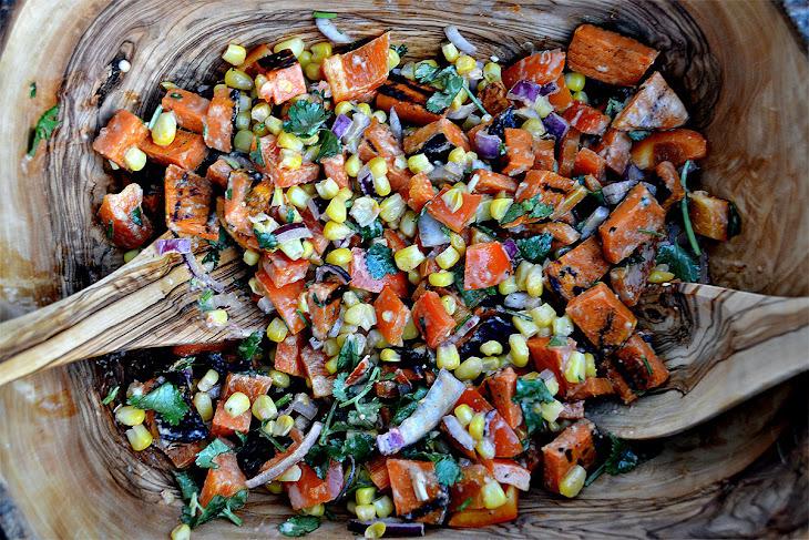 Grilled Sweet Potato Salad with Smoked Tomato Vinaigrette Recipe ...