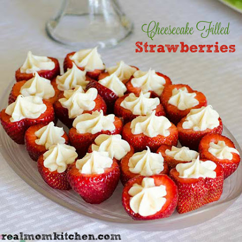 Cheesecake Filled Strawberries
