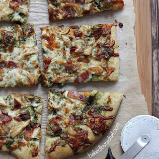 Bacon-Basil Pesto and Chicken Pizza