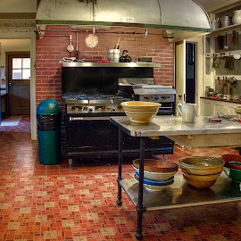 Pinewood Kitchen by Sandy Friedkin - Buildings & Architecture Public & Historical ( pinewood, florida, lake wales, kitchen, historical register, estate )