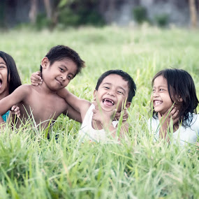 Laughter by Leo Dimaano - Babies & Children Children Candids