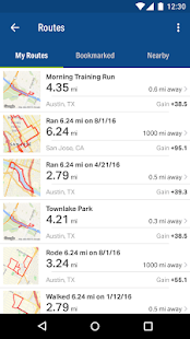 Map My Fitness + Фитнес App Screenshot