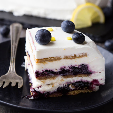 Blueberry Lemon Icebox Cake