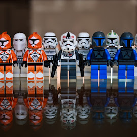 'The Whole Gang' by Katherine Flynn - Artistic Objects Toys ( storm trooper, reflection, star wars, light photography, lego )