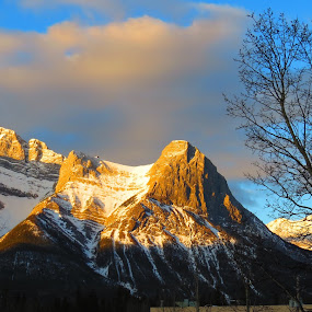 When the snow mountains met the first dawn by Pamela Zeng - Landscapes Sunsets & Sunrises
