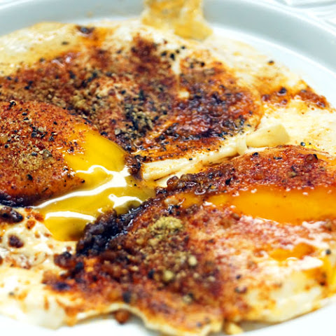 "New Mexico ""Christmas"" Chile Fried Eggs (Paleo, Whole30, 21DSD)"