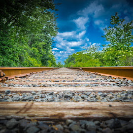 Railroad Tracks by Mike Scott - Novices Only Landscapes