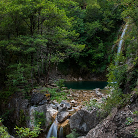 Waterfalls in the forest by Grigoris Koulouriotis - Landscapes Forests ( water, waterfalls, mountain, nature, forest, places, travel )