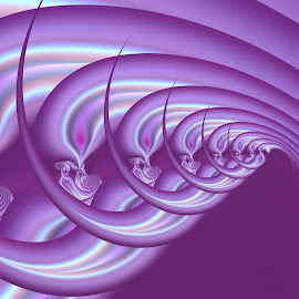 Purple wave by Cassy 67 - Illustration Abstract & Patterns ( purple, waves, swirl, spiral, digital, love, fractal art, digital art, power, harmony, fractal, light, fractals, energy )
