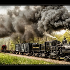 ...rounding the curve by James Eickman - Transportation Trains (  )