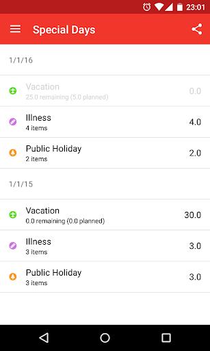 WorkTimes - Timekeeping - screenshot