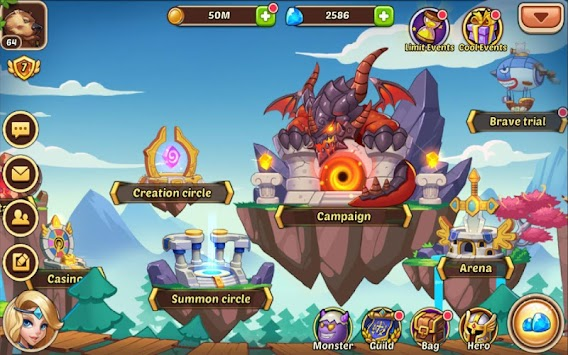 héros inactifs apk screenshot