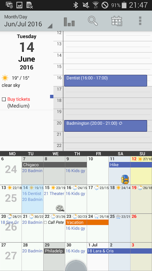 Personal Calendar Screenshot 2