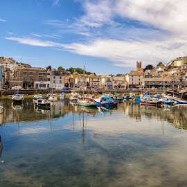 Brixham Harbor, England. by Graeme Hunter - Uncategorized All Uncategorized