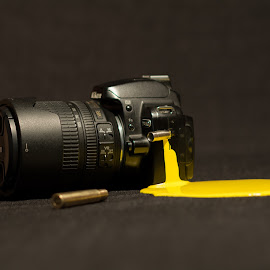 Nikon by Strumfu Catalin - Artistic Objects Technology Objects ( technology, yellow, nikon )