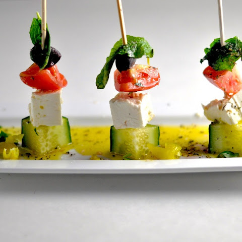 Greek Party Skewers - Low Carb, Ketogenic, Gluten-Free