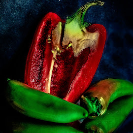 Red and Green by Prasanta Das - Food & Drink Fruits & Vegetables ( red, green, vegetables, contst )