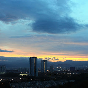 Dusk by Mohd Rashidin Ideres - City,  Street & Park  Skylines ( damansara, morning in kl, dusk, kepong, kuala lumpur )