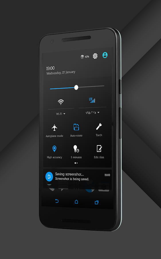 Sense Black/Blue cm13 theme Screenshot 2