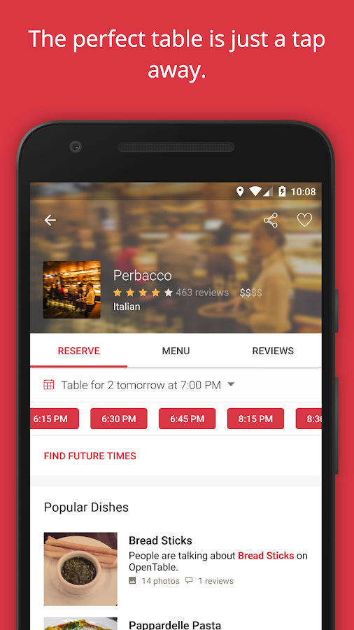 OpenTable: Restaurants Near Me Screenshot 1