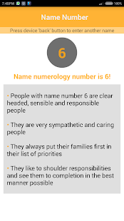 Simple Name Numerology - screenshot