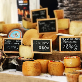 Cheese Please by Catherine Larocque - Food & Drink Ingredients ( market, corsica, france, cheese, culinary )