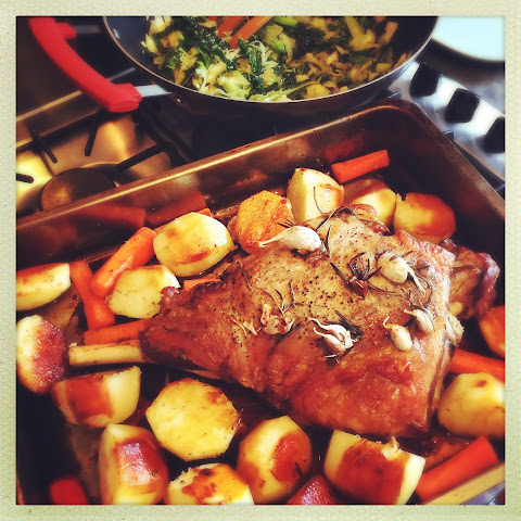 Easy slow roasted leg of lamb for Easter
