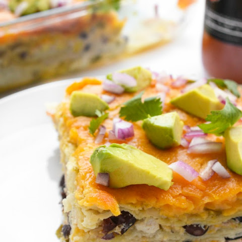 Mexican Lasagna with Chicken and Black Beans