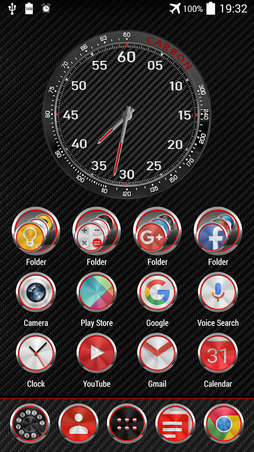 Carbon Theme for Apex Nova ADW Screenshot 0