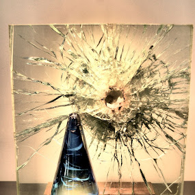 Shattered glass by Jim Davis - Abstract Fine Art ( broken, sculpture, shattered, art, glass, cracked )