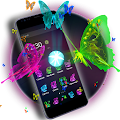 Free 3D Neon Butterfly Theme APK for Windows 8