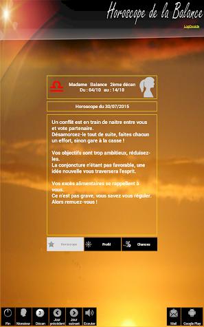 Libra Horoscope Screenshot