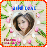 Birthday greetings photo frame Icon