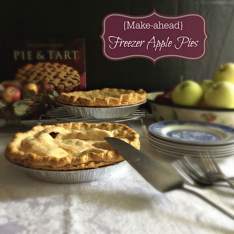 {Make-ahead} Freezer Apple Pies