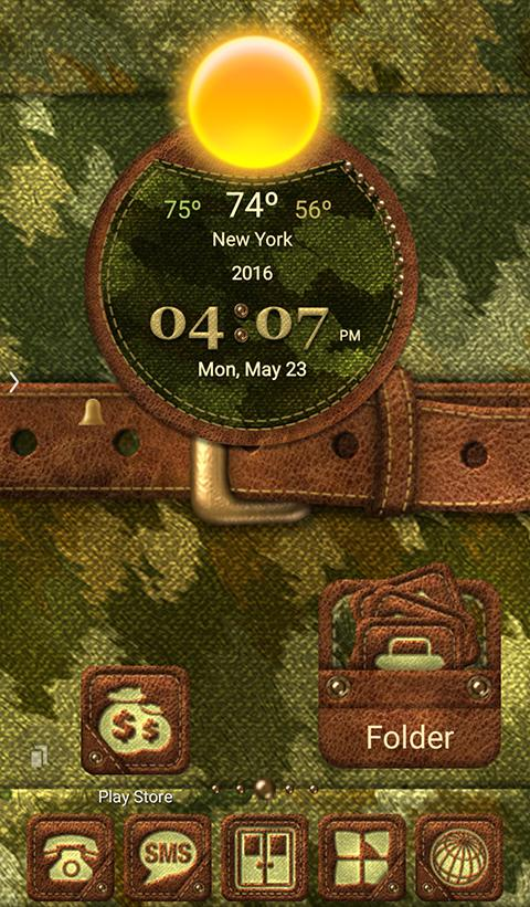 TSF NEXT NOVA CAMOUFLAGE THEME Screenshot 0
