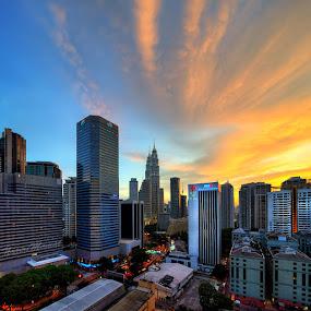 Sunset Kuala Lumpur City by Nazeri Mamat - Landscapes Sunsets & Sunrises