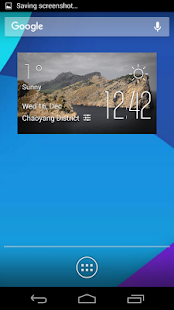 The island weather widget - screenshot