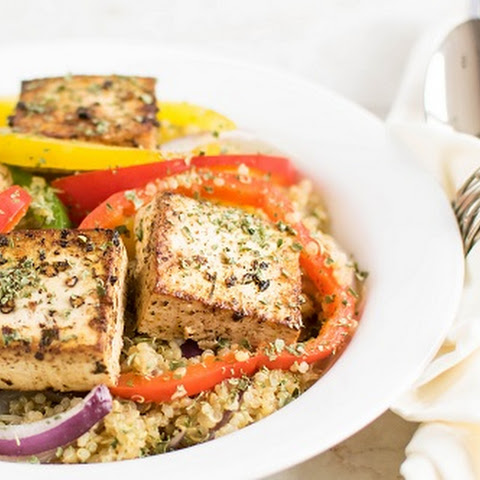 Red Wine Vinegar Tofu with Quinoa