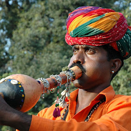 Snake Charmer by Ashwini Attri - People Musicians & Entertainers